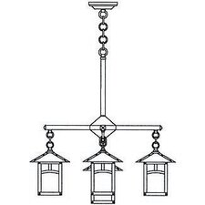 <strong>Arroyo Craftsman</strong> Evergreen 5 Light Chandelier with Overlay