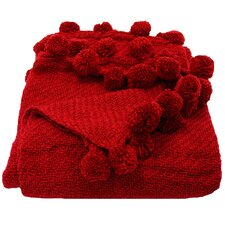 <strong>Woven Workz</strong> Jubilee 3 Dimensional Pom Pom Fringe Acrylic Throw