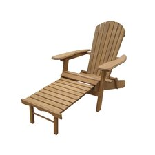 <strong>Atlantic Outdoor</strong> Foldable Adirondack Chair with Pull Out Ottoman