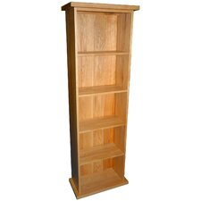 Essentials Double DVD Tower in Light Oak Stain and Satin Lacquer