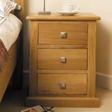 Pitkin 3 Drawer Bedside Table