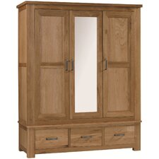 Lyon 3 Door 3 Drawer Wardrobe with Mirrored Door