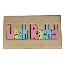 <strong>Hollow Woodworks</strong> Personalized Two Names Puzzle With 10 Letters