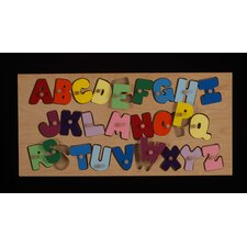 <strong>Hollow Woodworks</strong> Alphabet Peg Puzzle