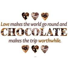Dekosticker Chocolate