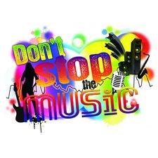 Dekosticker Don´t stop the music