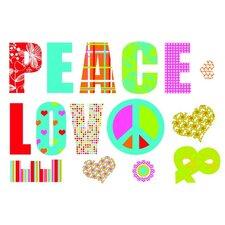 Dekosticker Love and Peace