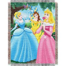 <strong>Northwest Co.</strong> Entertainment Tapestry Throw Blanket - Disney Princess - Walk in the Park