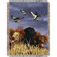 <strong>Northwest Co.</strong> Entertainment Tapestry Throw Blanket - Hautman Brothers Bird Dog