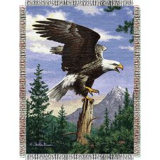 Entertainment Tapestry Throw Blanket - Hautman Brothers Eagle Perch