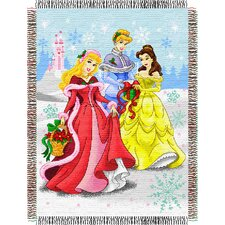 Entertainment Tapestry Holiday Throw Blanket - Disney Princess - Dreamy