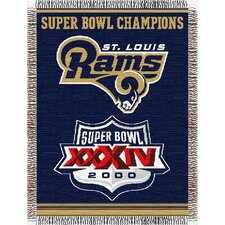 NFL St. Louis Rams Commemorative Tapestry Throw