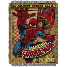 <strong>Northwest Co.</strong> Entertainment Spiderman Vintage Spiderman MTL Tapestry Throw
