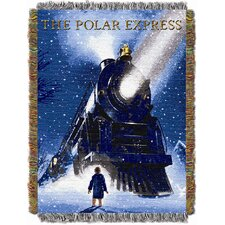 <strong>Northwest Co.</strong> Entertainment Holiday Polar Express Engine Wonder Tapestry Throw