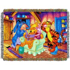 <strong>Northwest Co.</strong> Entertainment Pooh Story Time Tapestry Throw