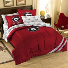 College NCAA Georgia Full Comforter Set