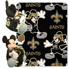 NFL New Orleans Saints Mickey Mouse Polyester Fleece Throw