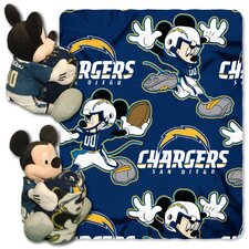 NFL San Diego Chargers Mickey Mouse Fleece Throw