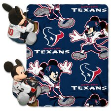 NFL Houston Texans Mickey Mouse Fleece Throw