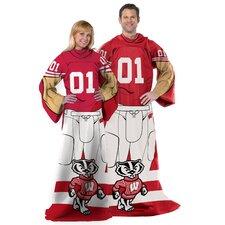 College NCAA Wisconsin Polyester Fleece Comfy Throw