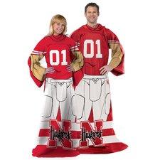 College NCAA Nebraska Polyester Fleece Comfy Throw