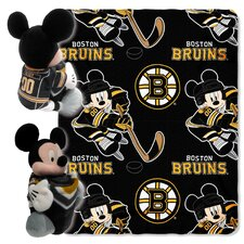NHL Boston Bruins Mickey Mouse Fleece Throw