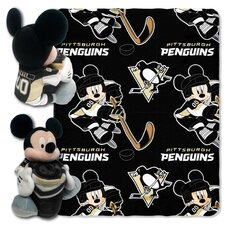 NHL Pittsburgh Penguins Mickey Mouse Fleece Throw