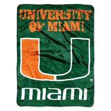 NCAA Micro Raschel Throw Blanket