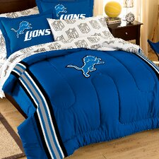 NFL Detroit Lions Embroidered Twin/Full Comforter Set
