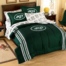 NFL Embroidered Twin/Full Comforter Set