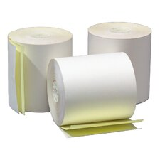 "3.25"" x 90' 2-Ply Self Contained Adding Machine and Calculator Roll (60 Rolls)"