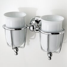 <strong>WS Bath Collections</strong> Venessia Double Tumbler Holder with Tumblers