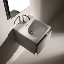 Buddy Wall-Mounted Cabinet with Ceramic Bathroom Sink