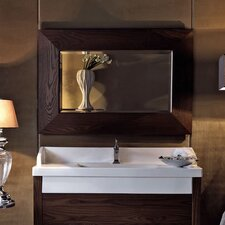 Bentley Wall Mounted Bathroom Mirror with Wood Frame