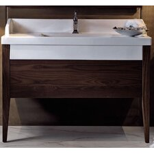 "Bentley 47"" Wood Bathroom Vanity Set with Single Sink"