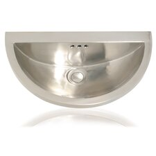 Metal Half Moon Bathroom Sink