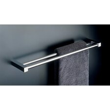 "Metric 23.6"" Double Towel Bar in Polished Chrome"
