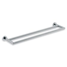 <strong>WS Bath Collections</strong> Baketo Double Towel Bar in Polished Chrome