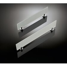 "Baketo 31.3"" Frosted Glass Shelf in Polished Chrome"