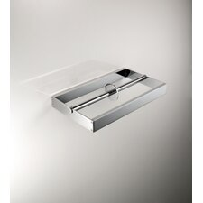 "<strong>WS Bath Collections</strong> Skuara 9.1""  Double Toilet Paper Holder in Polished Chrome"