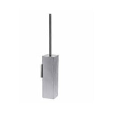 "<strong>WS Bath Collections</strong> Complements 3.4"" x 3.4"" Skoati Wall MountToilet Brush Holder in Stainless Steel"