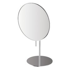 "<strong>WS Bath Collections</strong> Mirror Pure 5.1"" Mevedo Free Standing Make Up Magnifying Mirror in Stainless Steel"