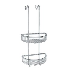 "<strong>WS Bath Collections</strong> Filo 9.8"" x 9.5"" Hanging Shower Basket in Polished Chrome"
