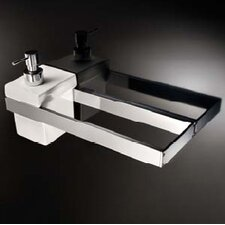 "<strong>WS Bath Collections</strong> Skuara 23.6"" Toilet Rail/Bracket in Polished Chrome"