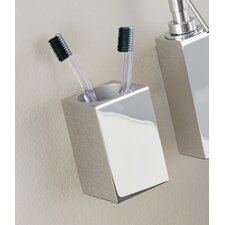 "Metric 7.8"" x 2.4"" Wall Toothbrush Holder in Polished Chrome"