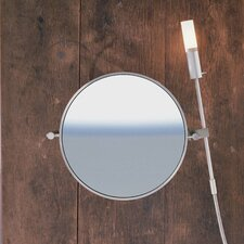 "WS1 Wall-mount Magnifying (3X) Makeup Mirror with Halogen Light, 8.6"" Extension"