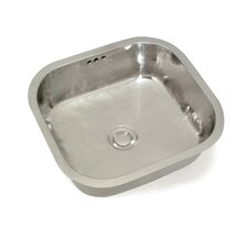 "Cuisine 18.5"" x 17"" Camille Rectangle Hand-Hammered Bar Sink"