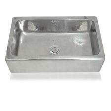 "Cuisine 30"" x 18"" Marius Hand-Hammered Farmhouse Kitchen Sink"