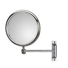 "Mirror Pure 9.1"" H x 9.1"" W Doppiolo Magnifying Cosmetic Mirror"