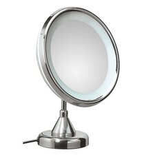 <strong>WS Bath Collections</strong> Lucciolo Free Standing Magnifying Cosmetic Mirror with Lighting